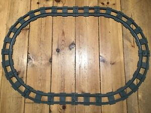 16 GREY DUPLO TRAIN RAILWAY TRACK PIECES STRAIGHT AND CURVED No. 6378 6377 OVAL