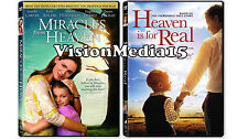 2 PACK - Miracles From Heaven & Heaven Is For Real DVD NEW 2016 BRAND NEW