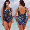 Women One Piece Monokini Push Up Padded Bikini Beach Swimwear Swimsuit Plus Size