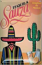 Tequila Sauza embossed steel sign  300mm x 200mm (hi) REDUCED