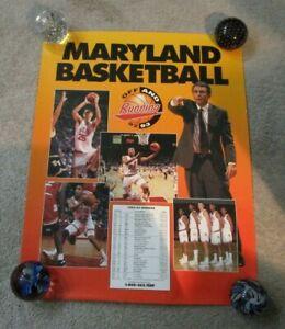 1992-93 Maryland University Basketball Poster w Schedule