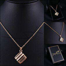 Schmuck Geschenk: Kette Halskette *Gitter* Damen Rosegold pl. +Etui original