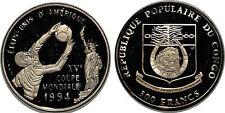 CONGO 500 FRANCS 1992 KM#11   SILVER 0.999