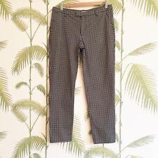 Espirit Women's Trousers - Black and White Floral Geometric Design - Size 10