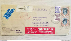 I) 1946 INDIA, KING GEORGE VI, SET OF 4, AIR MAIL, CIRCULATED COVER FROM INDIA T