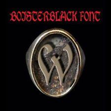 Solid Bronze W Single Letter Oval biker Ring Boister Black font Custom size