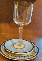 "CHRISTIAN DIOR ""GAUDRON"" GOLD Wine Glass Model  #50465 excellent condition"