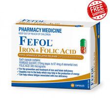 FEFOL Iron Folic Acid Fefol Spansule Delayed-Release 60 Capsules Blister Pack