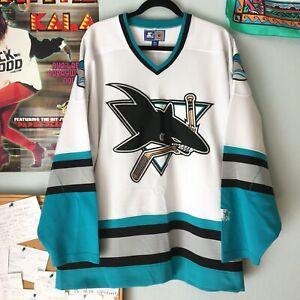 Vintage San Jose Sharks Starter Jersey Mens XL Western Conference Ron Sutter NHL