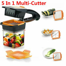5IN1 Vegetable Fruit Slicer Tool Cutter Chopper Dicer Salad Food Quick Nicer Set
