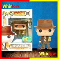 Funko Pop Indiana Jones # 199 Metallic 11cm Collection Model Figures Toy