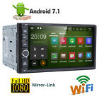 Android 7.1 Double 2 Din Car MP3 Player Radio Stereo Head Unit GPS SAT NAV DAB+E
