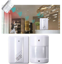 Wireless Garage Motion Sensor Alarm Infrared Alert Secure System Door Entry Bell