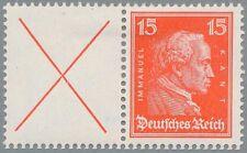 Deutsches Reich W 23 ungebrauchter Zusammendruck Kant/Andreaskreuz