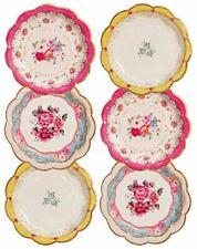 Talking Tables Pack of 12 - Size 17cm  Tea Party Vintage Floral Paper Plates | T