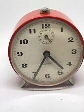 horlogerie reveil mécanique Mauthe  couleur Rouge  ancien Germany fonctionne