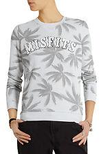 ZOE KARSSEN MISFITS SWEATSHIRT $145 Palm Tree Print Gray Pullover NWT S Top