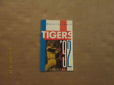 MLB Detroit Tigers Vintage Circa 1992 Logo Baseball Pocket Schedule
