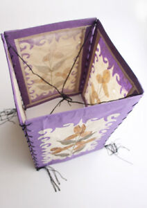 Real Dried Flower and Leaves Pressed Paper Ceiling Lamp Shade