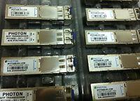 Lot of 4 PHOTON PT7320-51-1TP 1.25G/1310NM/SMP 10Km SFP Transceivers