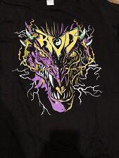 Rob Van Dam Dragon T-Shirt Pro Wrestling Crate Exclusive TNA Size L