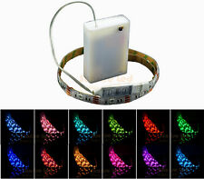 4.5V Battery Operated 50cm RGB LED Strip Light Waterproof Craft  Hobby Light