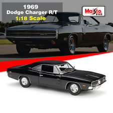 Maisto 1:18 Black 1969 Dodge Charger R/T Diecast Metal Models Car Toy New in Box