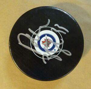 Autographed DUSTIN BYFUGLIEN Signed Winnipeg Jets Hockey Puck