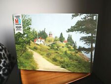 Vintage NEW NIB Brain teaser MB Puzzle 2500 PIECES Lighthouse Maine sealed scene