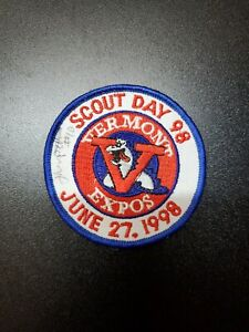 Vermont Expos Patch Logo Lake Monsters NYPL New York Penn Autograph Boy Scouts