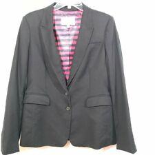 BANANA REPUBLIC Navy Blue Blazer Jacket Size 14 2 Button Notch Lapel Suit