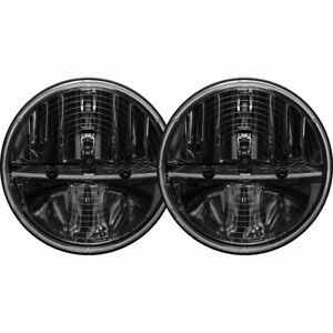 "Rigid Industries 7"" Round LED Heated Headlights With PWM Adapter 55004 - Pair"