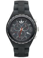 New Adidas Cambridge Chronograph Black Resin Band Date Watch 45mm ADH2569 $95