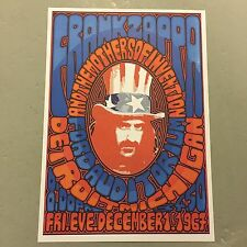 FRANK ZAPPA - CONCERT POSTER - DETROIT 1ST DECEMBER 1967    (A3 SIZE)