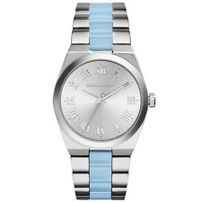 Michael Kors Watch MK6150 Ladies Channing Stainless Steel Blue Two Tone New