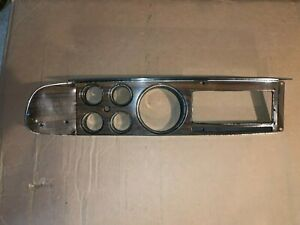 1977 78 Dodge Ramcharger pick up dash gauge woodgrain bezel