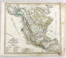 1842 Antique Map of The United States North America Hand Coloured Engraving