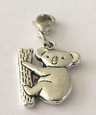 Lovely cute Little ARGENTO KOALA Orso-Clip per Fascino-tibetian ARGENTO-NUOVA