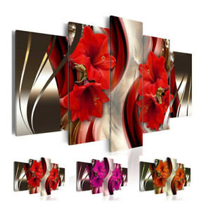 5 Panel Unframed Canvas Art Oil Painting Picture Room Wall Hanging Posters Decor