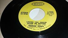 GEORGE JONES Loving You Could Never Be Try It Youll Like It EPIC 10858 45 VINYL