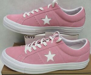 Mens 9.5 Womens 11.5 Converse One Star Suede OX Pink Glow Shoes $85 158436C