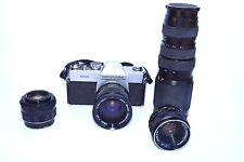 Mamiya/Sekor 500 DTL 35mm Camera + 4 Lens Lot