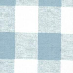 Carolina Linens Gathered Bedskirt in Anderson Cashmere Light Blue Buffalo Check