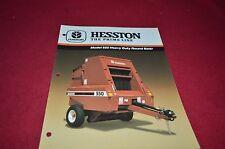 Hesston 550 Round Baler Dealer's Brochure DCPA2