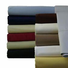 "600 Tc 100% Combed Cotton 18"" Deep Pocket Solid Sheet Sets"