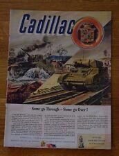 Cadillac M-5 Light Tank WWII Armament Print Advertisement Vintage Magazine Ad