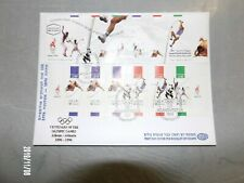 """1996 Israel FDC """"ATLANTA 1996 CENTENNIAL OLYMPIC"""" Booklet, Excellent"""