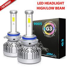 1 Pair 72W 8000LM LED Headlight Kit 9005 HB3 High Beam 6000K White Light Bulbs