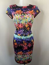 JOSEPH RIBKOFF • Abstract Floral Stretch Occasion Dress • Size UK 10