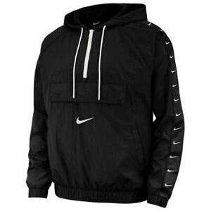 Nike NSW Swoosh Woven Logo Mens Jacket Black Size XL Sportswear Windbreaker